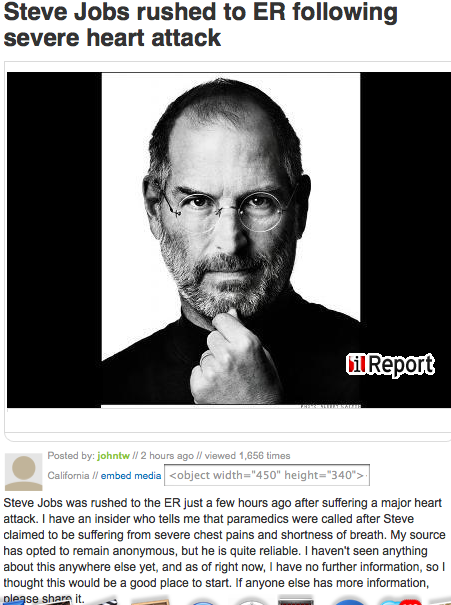 Steve Jobs - Not dead, not even close