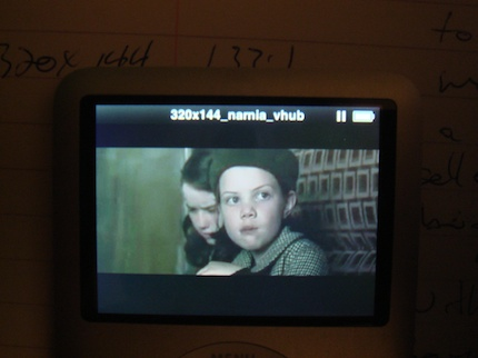 2.35:1 Cinema Widescreen on iPod Nano 5G at 320x144 resolution by Visualhub