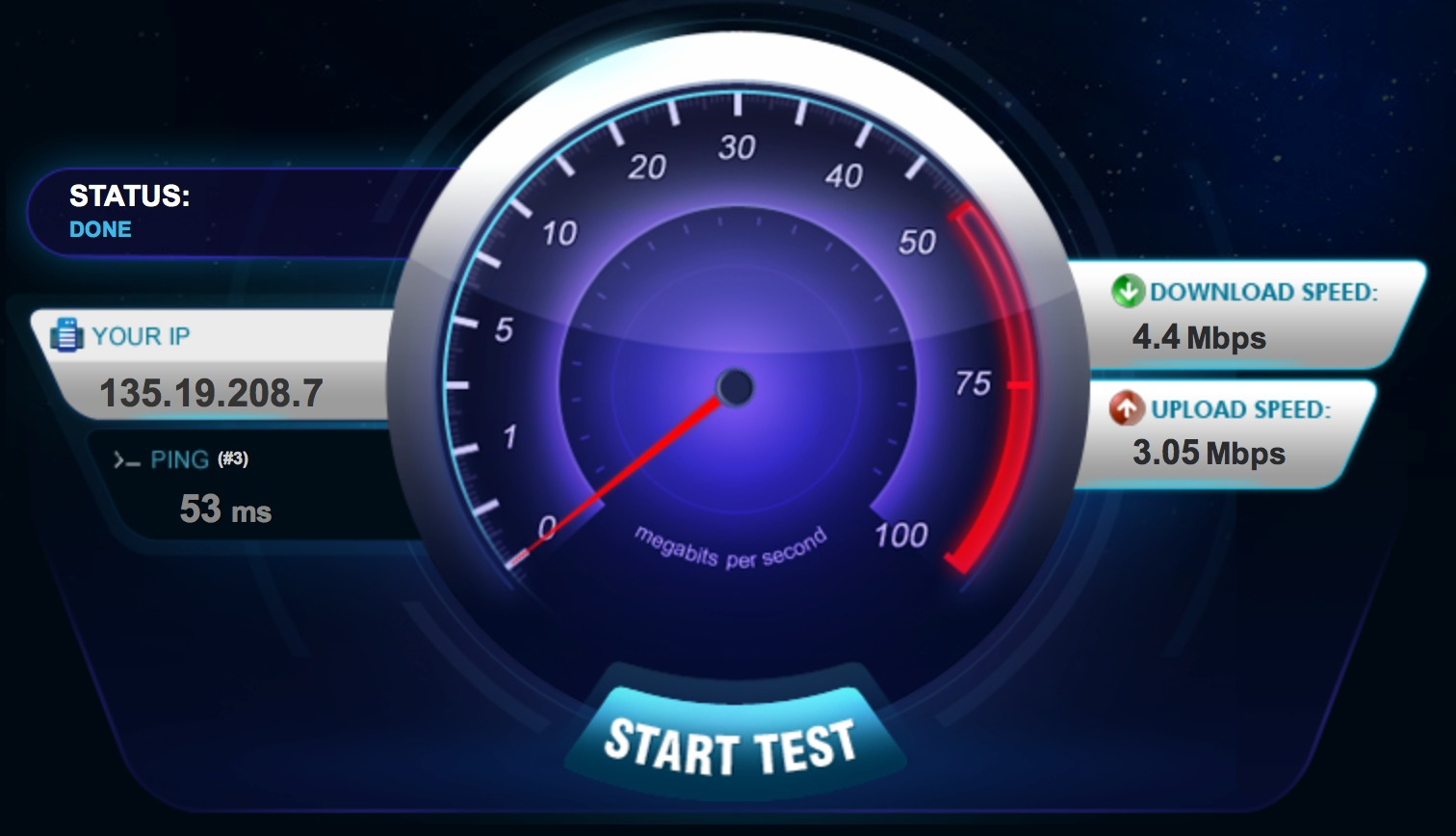 Internet Speed Test - Bandwidth place