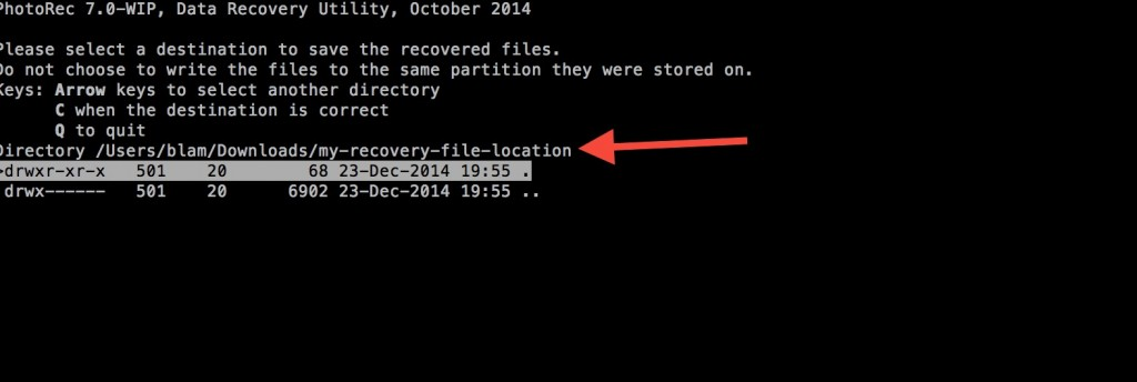 mac-undelete-recovery-location-chosen